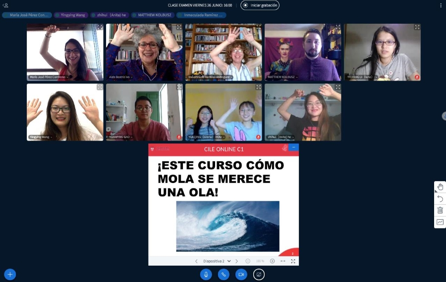 Clase virtual de español de la profesora María José Pérez junio de la profesora María José Pérez.